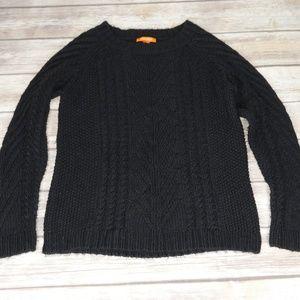 Joe Fresh | Black Cable Knit Sweater Size Large